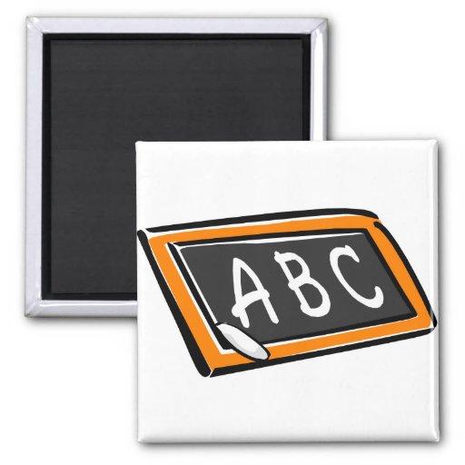 ABC On Blackboard Refrigerator Magnets