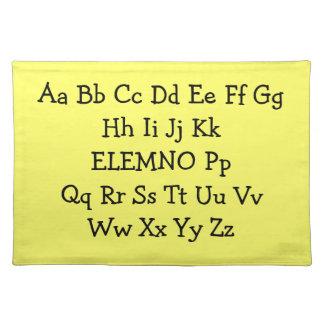 ABC placemat