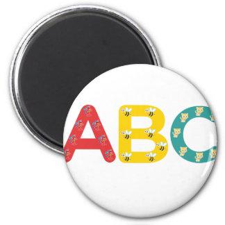 ABC por PaddleDuck Imán Redondo 5 Cm