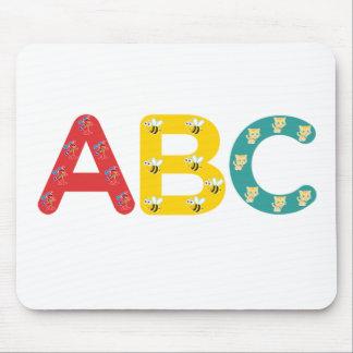 ABC por PaddleDuck Alfombrilla De Ratón
