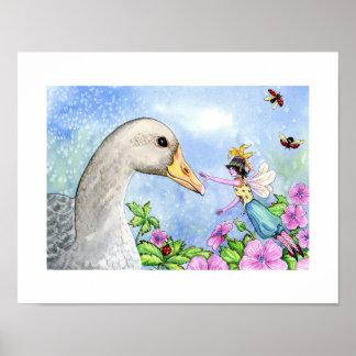 ABC print - Gwillie the greylag goose.