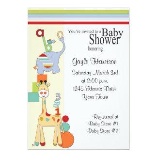 abc saffari baby shower invitation