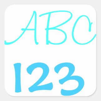 abc square sticker