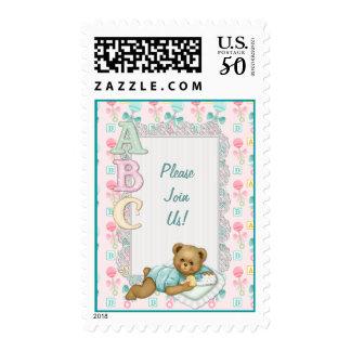 ABC Teddy Bear Baby - Customize Text Postage