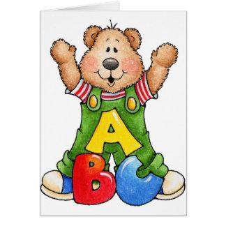 ABC Teddy Bear Cards