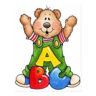 ABC Teddy Bear Postcard