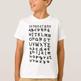 ABC  text  and number T-Shirt