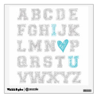 ABC Wall Print Wall Decal