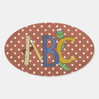 ABC Worm, Ruler, Pencil School Fun Stickers