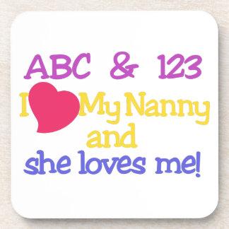¡ABC y 123 I mi niñera y ella me ama! Posavasos De Bebida