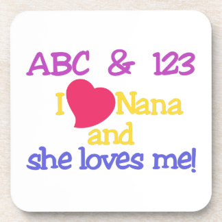 ¡ABC y 123 I Nana y ella me ama! Posavaso