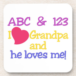 ¡ABC y el abuelo y él de 123 I me ama! Posavasos De Bebidas