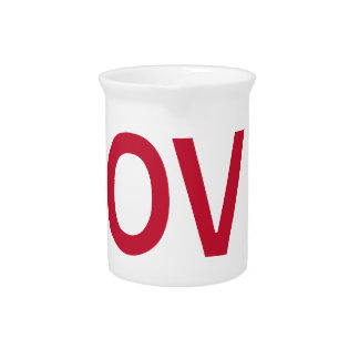 ABCD I Love U Beverage Pitcher