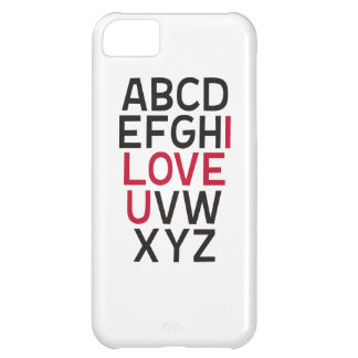ABCD I Love U Cover For iPhone 5C
