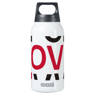 ABCD I Love U Insulated Water Bottle