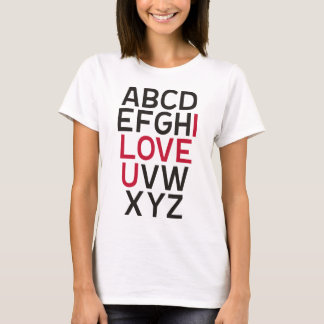 ABCD I Love U T-Shirt