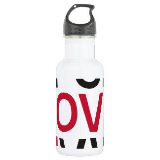 ABCD I Love U Water Bottle