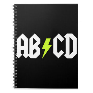 ABCD Yellow Bolt Note Book
