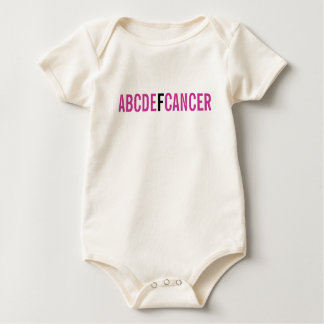 ABCDE F CANCER BABY BODYSUIT