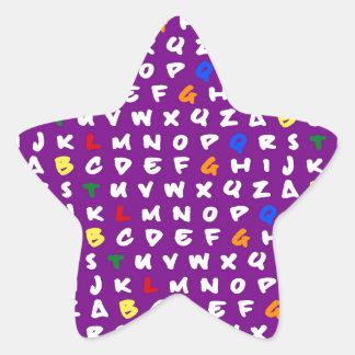 ABCD'S LGDBTQ'S! RAINBOW STAR STICKER