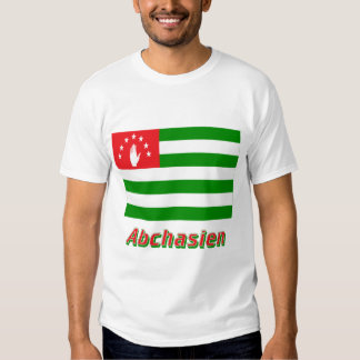Abchasien Flagge mit Namen T-Shirt