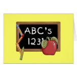 Abcs 123s Tshirts and Gifts Greeting Card