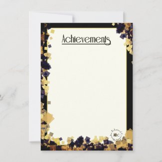 ABC's Achievements Card