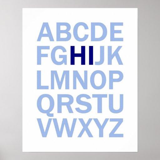 ABC's Alphabet poster that says HI