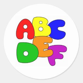 ABC's Classic Round Sticker