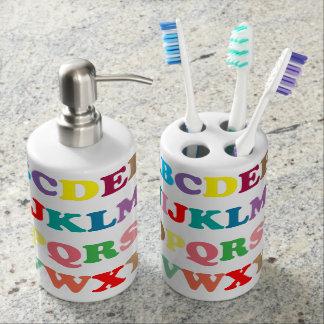 ABC's colorful lettering Bathroom Set