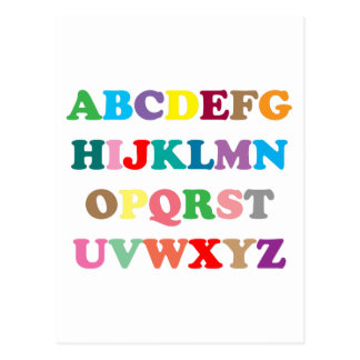 ABC's colorful letters Postcard