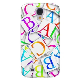ABCs colorido Funda Para Galaxy S4