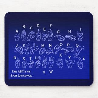 ABCs del lenguaje de signos Mousepad por Janz