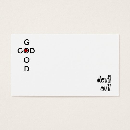 abcs of good and evil business card
