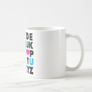ABC's of Love Classic White Coffee Mug