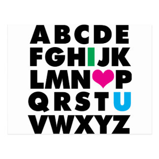 ABC's of Love Postcard