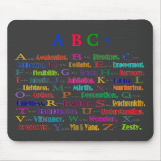 ABC's of positives Mouse Pad