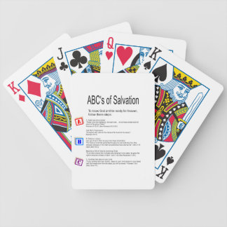ABC's of Salvation Bicycle Playing Cards