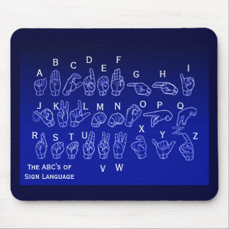 ABCs of Sign Language Mousepad by Janz