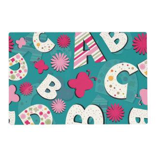 ABC's Pink & Blue Design Placemat