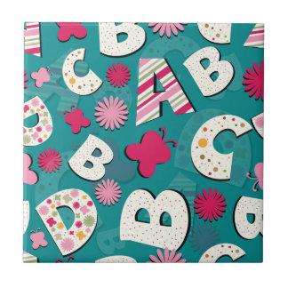 ABC's Pink & Blue Design Tiles