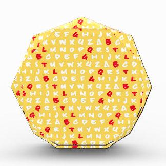 Abc's yellow acrylic award