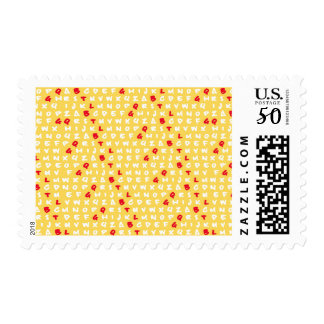 Abc's yellow postage