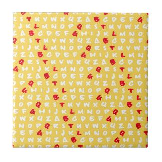 Abc's yellow tile