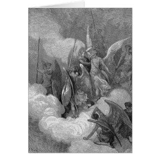 Abdiel ataca Satan Tarjeta De Felicitación