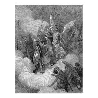 Abdiel Attacks Satan Postcard