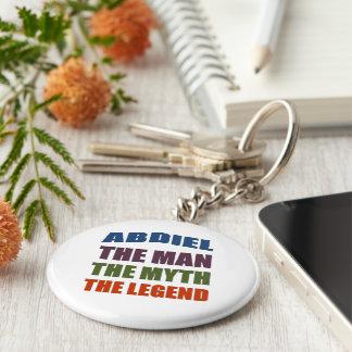 Abdiel the man, the myth, the legend keychain