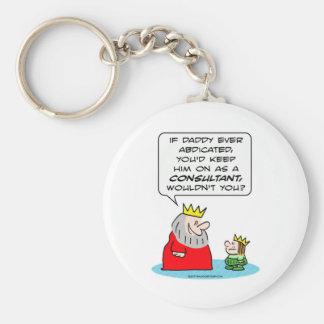 abdique al príncipe del rey que el consultor guard llavero redondo tipo pin