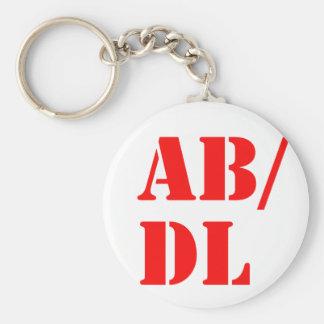abdl basic round button keychain