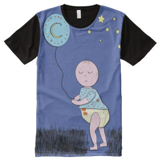 ABDL tee/Adult Baby Cute tee/Baby with Balloon All-Over-Print Shirt